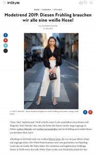 Modetrend - Weiße Hosen sind ein Must have im Frühling 2019 - instyle de - 2019 03 26 - Alexandra Lapp - found on https://www.instyle.de/fashion/modetrend-weisse-hose-fruehling-2019