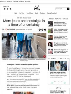 Mom jeans and nostalgia in a time of uncertainty - news24.com - 2020 04 13 - Alexandra Lapp - found on https://www.news24.com/w24/Style/Fashion/Trends/mom-jeans-and-nostalgia-in-a-time-of-uncertainty-20200407