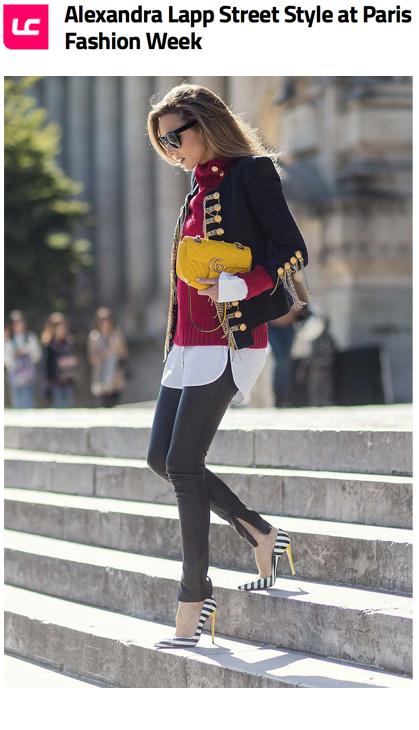 Alexandra Lapp Street Style at Paris Fashion Week 2016