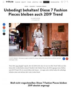 Nicht wegschmeißen - Diese 7 Fashion Pieces bleiben 2019 Trend - InStyle - instyle.de - 2018 12 25 - Alexandra Lapp - found on https://www.instyle.de/fashion/fashion-pieces-bleiben-2019-trend