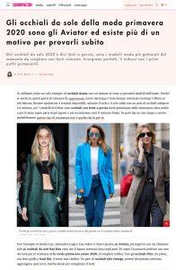 Occhiali da sole moda primavera 2020 gli aviator sono tornati - Cosmopolitan Italia online - cosmopolitan.com/it - 2020 03 20 - Alexandra Lapp - found on https://www.cosmopolitan.com/it/moda/accessori/a31755708/occhiali-da-sole-moda-primavera-2020-aviator/