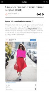 On ose le duo rose et rouge comme Meghan Markle - Stylight France - 2019 02 01 - Alexandra Lapp - found on https://www.stylight.fr/Magazine/Fashion/Ose-Le-Duo-Rose-Et-Rouge-Comme-Meghan-Markle/
