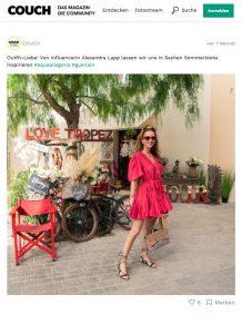 Outfit Liebe - Von Influencerin Alexandra Lapp lassen wir uns in Sachen Sommerloocks inspirieren - couchstyle.de - 2019 06 - Alexandra Lapp - found on https://www.couchstyle.de/fotos/outfit-liebe-von-influencerin-alexandra-lapp-lassen-wir-uns-in-sachen-sommerlooks-inspirieren-aquaal-63550