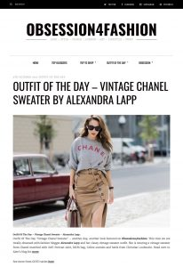 Outfit Of The Day - Vintage Chanel Sweater By Alexandra Lapp - obsessionforfashion - 2017 10 - found on https://www.obsession4fashion.com/outfit-day-vintage-chanel-sweater-alexandra-lapp/