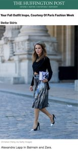 Alexandra Lapp Street Style at Paris Fashion Week 2016 - Found on http://www.huffingtonpost.co.uk/