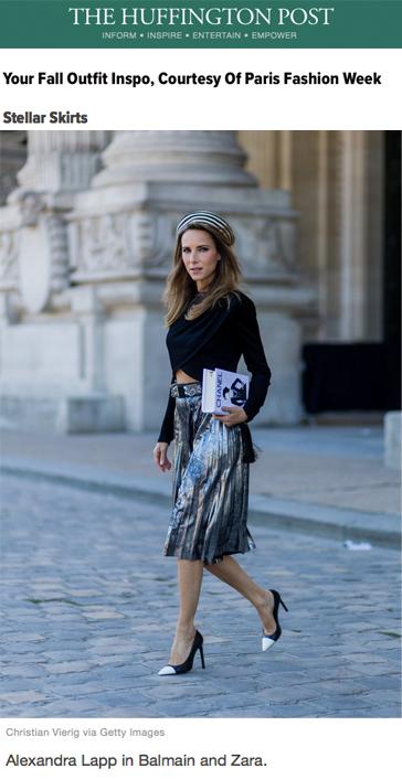 Alexandra Lapp Street Style at Paris Fashion Week 2016 - Found on http://www.huffingtonpost.co.uk/