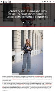 Pata de gallo 12 looks para llevar el estampado sin que te sume anos - Foto 1 - fashion-hola.com - 2019 10 27 - Alexandra Lapp - found on https://fashion.hola.com/tendencias/galeria/2019102768313/pata-de-gallo-estampado-looks-street-style/1/