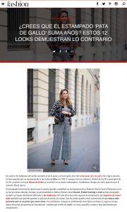 Pata de gallo 12 looks para llevar el estampado sin que te sume anos - Foto 1 - fashion-hola.com - 2019 10 27 - Alexandra Lapp - found on https://fashion.hola.com/tendencias/galeria/2019102768313/pata-de-gallo-estampado-looks-street-style/1/