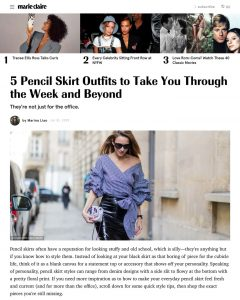 Pencil Skirt Outfit Ideas for Work - What to Wear With Pencil Skirts - marieclaire.com - 2019 07 31 - Alexandra Lapp - found on https://www.marieclaire.com/fashion/g28469576/pencil-skirt-outfits-ideas/