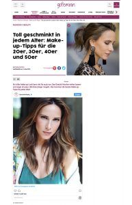 Perfekt geschminkt - Make-Up Tipps für die 20er 30er 40er 50er - gofeminin Germany online - 2018 05 13 - Alexandra Lapp - found on https://www.gofeminin.de/make-up/make-up-tipps-fuer-jedes-alter-s2536694.html