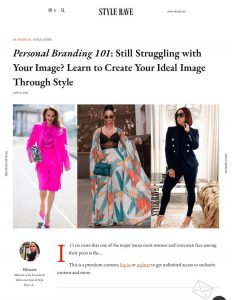 Personal Branding 101: How To Create A Perfect Personal Image - STYLERAVE - stylerave.com - 2020 06 20 - Alexandra Lapp - found on https://www.stylerave.com/personal-branding-perfect-personal-image/