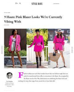 Pink Blazers: How To Style Your Fuchsia Blazers Like A Boss - STYLERAVE - stylerave-com - 2020 07 10 - Alexandra Lapp - found on https://www.stylerave.com/how-to-style-fuchsia-pink-blazer/