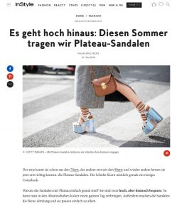 Plateau-Sandalen - So tragen wir die Trendschuhe 2020 - instyle.de - 2020 05 07 - Alexandra Lapp - found on https://www.instyle.de/fashion/plateau-sandalen