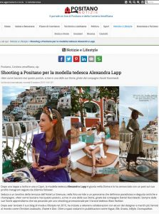 Positano Notizie - Shooting a Positano per la modella tedesca Alexandra Lapp - positanonotizie.it - 2019 10 08 - Alexandra Lapp - found on https://www.positanonotizie.it/it/notizie-e-lifestyle-17/shooting-a-positano-per-la-modella-tedesca-alexand-1937/article