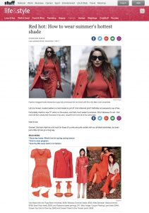 Red hot - How to wear summers hottest shade - Stuff co nz - 2017-11-07 - Alexandra Lapp - found on https://www.stuff.co.nz/life-style/fashion/98589754/red-hot-how-to-wear-summers-hottest-shade