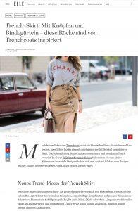 Rock Trend Trench Skirts mit Knöpfen und Bindegürteln - ELLE Deutschland - 2018 04 04 - Alexandra Lapp - found on http://www.elle.de/trench-skirts