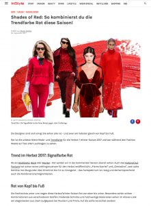 Rot - So funktioniert die Trendfarbe im Herbst 2017 - InStyle Germany - 2017 09 - Alexandra Lapp - found on http://www.instyle.de/fashion/trendfarbe-rot-herbst-2017