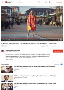 SS18 Trends featuring bloggers Konstantin Krayer, Alexandra Lapp, Aline Kaplan, Tatjana Witte - YouTube de - 2018 04 10 - Alexandra Lapp - found on https://www.youtube.com/watch?v=9wYFHUaZa68