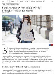 Samt Kaftane - Der Sommertrend ist auch im Winter noch ein Hit - ELLE de - 2017-11-29 - Alexandra Lapp - found on http://www.elle.de/samt-kaftane-2017