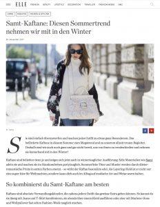 Samt Kaftane - Der Sommertrend ist auch im Winter noch ein Hit - ELLE de - 2017 11 28 - Alexandra Lapp - found on http://www.elle.de/samt-kaftane-2017