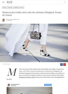 Schuh Trend - Slingbacks machen jedes Outfit sofort edel - ELLE de - 2018 06 17 - Alexandra Lapp - found on https://www.elle.de/schuh-trend-slingback-pumps