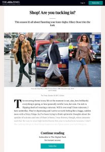 Shop! Are you tucking in? - The Times Magazine - The Times - thetimes.co.uk - 2019 10 26 - found on https://www.thetimes.co.uk/article/shop-are-you-tucking-in-jm9wj00x3