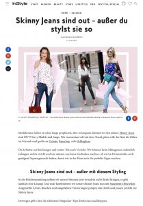 Skinny Jeans sind out außer mit diesem Styling - InStyle Germany online - 2018 07 31 - Alexandra Lapp - found on https://www.instyle.de/fashion/skinny-jeans-styling