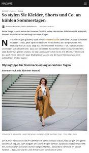So stylen Sie Kleider, Shorts und Co. an kühlen Sommertagen - Madame - madame.de - 2020 07 15 - Alexandra Lapp - found on https://www.madame.de/so-stylen-sie-kleider-shorts-und-co-an-kuehlen-sommertagen-1283583.html?referrer=