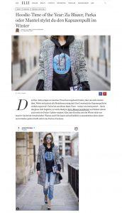 So stylst du den Hoodie im Winter - ELLE-de - 2017-12-10 - Alexandra Lapp - found on http://www.elle.de/hoodie-winter-2017
