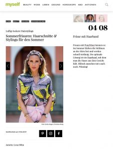 Sommerfrisuren - Haarschnitte Stylings für den Sommer - myself.de - 2019 06 19 - Alexandra Lapp - found on https://www.myself.de/beauty/frisuren/galerie-sommerfrisuren/#frisur-mit-haarband