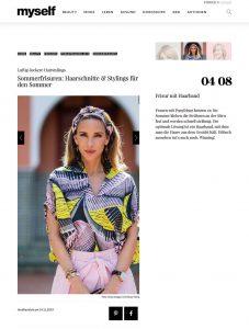 Sommerfrisuren: Haarschnitte & Stylings für den Sommer - myself - myself-de - 2019 11 19 - Alexandra Lapp - found on https://www.myself.de/beauty/frisuren/trendfrisuren-2019/galerie-sommerfrisuren/#frisur-mit-haarband