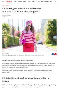 Sommerpullover - Die schönsten Teile gleich zum Nachshoppen - Instyle - 2017 07 - Alexandra Lapp - found on http://www.instyle.de/fashion/sommerpullover-2017-shoppen
