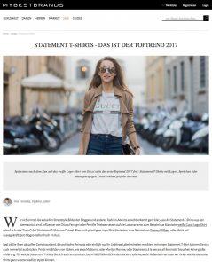 Statement T-Shirts - Das ist der Toptrend 2017 - 2017-03 - Alexandra Lapp - found on https://www.mybestbrands.de/guides/trend-guide/statement-t-shirts/
