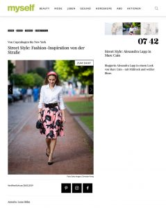 Street Style: Fashion-Inspiration von der Straße - myself.de - 2019 05 - Alexandra Lapp - found on https://www.myself.de/mode/trends/galerie-street-style/#street-style-alexandra-lapp-in-marc-cain