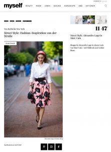 Street Style - Fashion-Inspiration von der Straße - myself.de - 2019 07 16 - Alexandra Lapp - found on https://www.myself.de/mode/trends/galerie-street-style/#street-style-alexandra-lapp-in-marc-cain