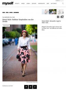 Street Style - Fashion-Inspiration von der Straße - myself.de - 2019 07 16 - Alexandra Lapp - found on https://www.myself.de/mode/trends/galerie-street-style/#street-style-alexandra-lapp-in-marc-cain