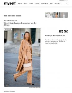 Street Style - Fashion Inspiration von der Straße - myself.de - 2019 10 21 - Alexandra Lapp - found on https://www.myself.de/mode/trends/galerie-street-style/#streetstyle-monochromer-look