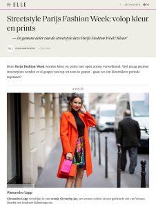 Streetstyle Parijs Fashion Week we zagen veel kleur 1 - elle.com/nl - 2020 02 27 - Alexandra Lapp - found on https://www.elle.com/nl/mode/fashion-week/g31130747/streetsyle-parijs-fashion-week/?slide=1