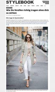 Streifen tragen ohne dick auszusehen - STYLEBOOK Deutschland - 2018 03 27 - Alexandra Lapp - found on https://www.stylebook.de/fashion/fashion-tutorial-wie-traegt-man-streifen