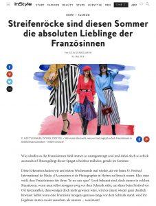 Streifenröcke sind diesen Sommer die absoluten Liebling der Französinnen - InStyle Germany online - 2018 05 05 - Alexandra Lapp - found on http://www.instyle.de/fashion/streifenroecke