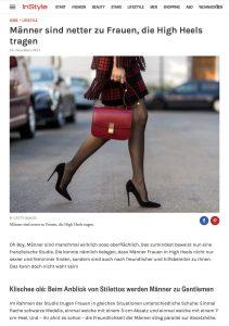 Studie belegt Frauen die High-Heels tragen werden von Männern netter behandelt - InStyle de - 2017-11-16 - Alexandra Lapp - found on http://www.instyle.de/lifestyle/studie-frauen-high-heels-maennern-verhalten