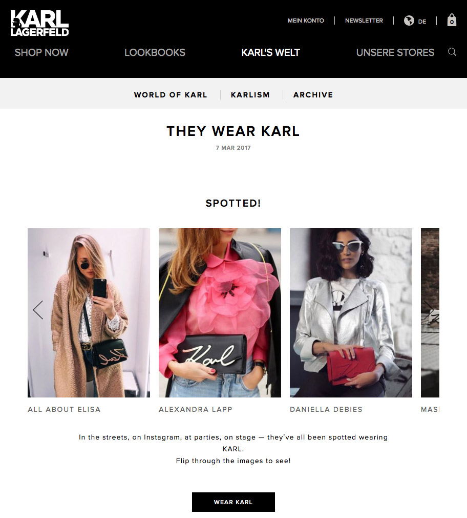 THEY WEAR KARL - World of Karl - 2017 03 - Alexandra Lapp - found on http://www.karl.com/experience/de/world-of-karl/they-wear-karl/