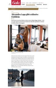 Tag einer Influencerin - Alexandra Lapp gibt exklusive Einblicke - GALA Germany - 2017 11 - Alexandra Lapp - found on https://www.gala.de/beauty-fashion/pariser-chic/alexandra-lapp-gibt-exklusive-einblicke-21467300.html