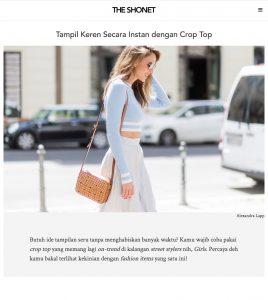Tampil Keren Secara Instan dengan Crop Top - The Shoenet - 2017 09 - Alexandra Lapp - found on https://theshonet.com/product-article/clothing/tops/tampil-keren-secara-instan-dengan-crop-top