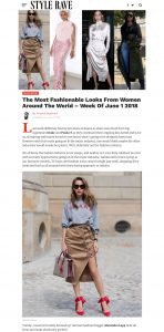 The Most Fashionable Looks From Women Around The World Week Of June 1/2018 - StyleRave com - 2018 06 06 - Alexandra Lapp - found on http://www.stylerave.com/2018/06/the-most-fashionable-looks-from-women-around-the-world-week-of-june-1-2018/