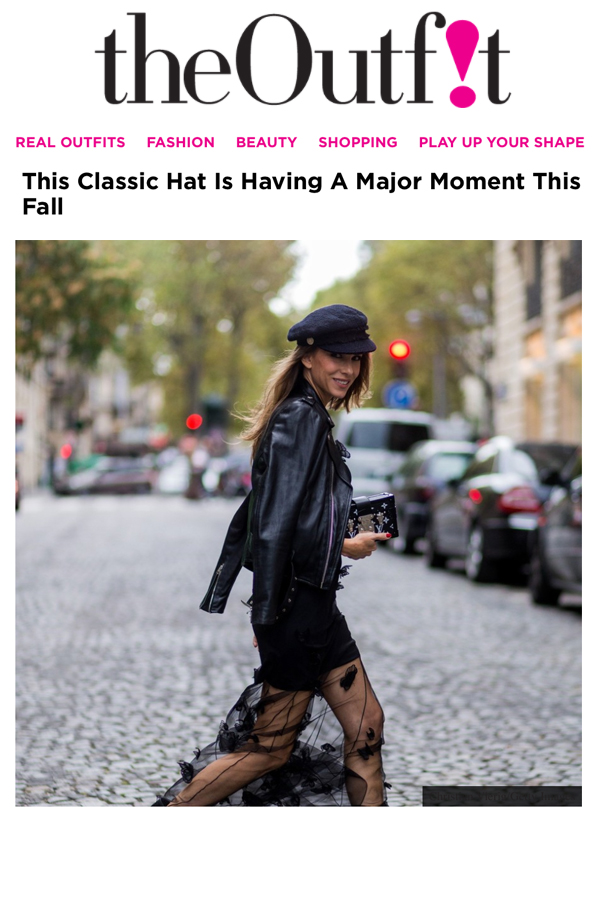 the-outfit-okt16-1-PARIS, FRANCE - OCTOBER 02: German fashion blogger and model Alexandra Lapp (@alexandralapp_) wearing Biker Couture, a black dress from Patrizia Pepe, biker leather jacket from Schott NYC, biker boots from Gucci, Chanel hat and Louis Vuitton Petite Malle clutch on October 2, 2016 in Paris, France. (Photo by Christian Vierig/Getty Images) *** Local Caption *** Alexandra Lapp