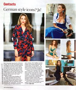 The Time Magazin Saturday - 2019 04 20 - no 72826 - page 10 - German style icons - Alexandra Lapp