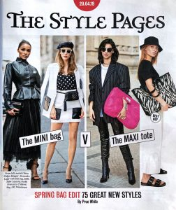 The Time Magazin Saturday - 2019 04 20 - no 72826 - page 10 - the style pages - spring bag edit - Alexandra Lapp