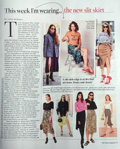The Times Magazine - 2019 08 - Page 11 - This week I'm wearing the new slit skirt - Alexandra Lapp