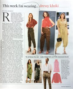 The Times Magazine - 2019 07 - Page 9 - This week i'm wearing dressy khaki - Alexandra Lapp